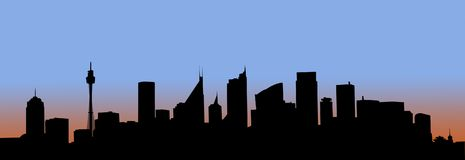 Art - Sydney at dawn Royalty Free Stock Photos