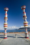 Art in Takamatsu port, Japan Stock Image