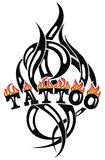 Art  Tattoo poster on white. Art Tattoo tribal vector designs Royalty Free Stock Photos
