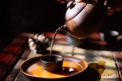 Art of tea. Chinese traditional culture Stock Photos