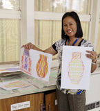 Art Teacher fier. Photographie stock libre de droits