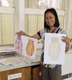 Art Teacher orgulloso. Fotografía de archivo libre de regalías