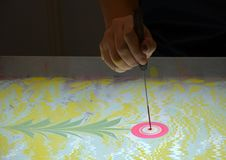 Art Technique - Marmering - Abstracte Boom stock foto