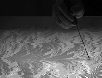 Art Technique - marmornd - abstrakter Baum Stockfotografie