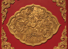 Art in temple chinese style in thailand Stock Images