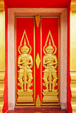 Art of temple door Royalty Free Stock Photography