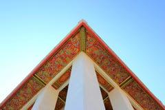 Art of temple roof at bangkok Stock Photography