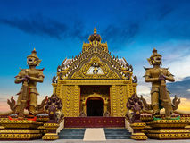 Art temple on twilight time Royalty Free Stock Photo