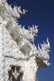Art in temple. White ancient temple in thailand Royalty Free Stock Image