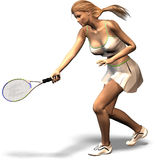 The Art of Tennis. A woman plays tennis Stock Photo