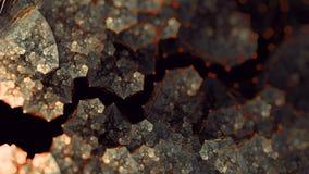 Art terreux de fractale de flamme de fleur de glyn d'or Image stock