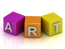 Art text on cubes Royalty Free Stock Image