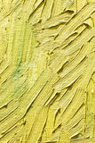 Art textured canvas with expressive yellow brush strokes Stock Photos