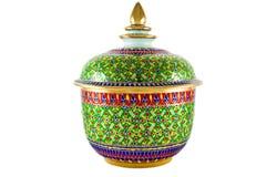 Art thaï de type de porcelaine traditionnelle image stock