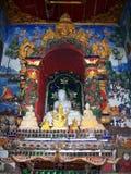 Art thaïlandais dans le vieux temple de la Thaïlande du nord 10 Photos libres de droits