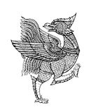 Art thaïlandais de tradition, oiseau de NOK Thet Photographie stock libre de droits