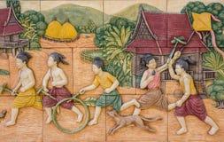 Art of Thai culture Stock Photo