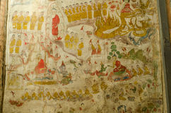 Art Thai, Mural mythology buddhist religion on wall Royalty Free Stock Images