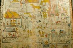 Art Thai, Mural mythology buddhist religion on wall Stock Image