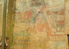 Art Thai, Mural mythology buddhist religion on wall Stock Photos