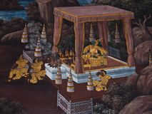 Art thai painting Stock Photo