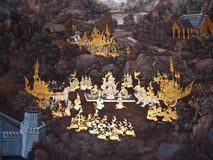 Art thai painting Stock Images