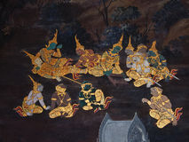 Art thai painting Stock Photos