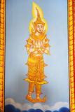 Art Thai Painting On Wall In Temple Stock Photo