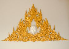 Art Thai Pattern. Thai art and pattern for temple in Chiang Rai Thailand stock photography