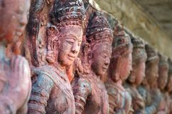 Art Thai style in temple Royalty Free Stock Photography