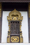 Art of Thai style temple window. Royalty Free Stock Photos