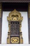 Art of Thai style temple window. Royalty Free Stock Photos