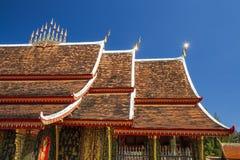 Art of thai temple roof Stock Photo
