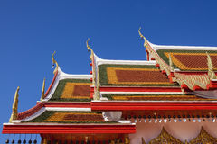 Art of thai temple roof. Royalty Free Stock Photo