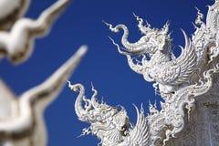 Art in thailand. White art on blue sky Royalty Free Stock Image