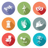 Art, theater, ballet, opera Icons Set. Vector Illustration. Royalty Free Stock Photo