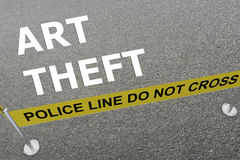 Art Theft concept Stock Photo