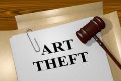 Art Theft - legal concept Stock Photos
