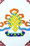 Art tibétain antique de peinture de mur Photographie stock libre de droits