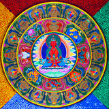 Art tibétain de peinture murale Photo stock