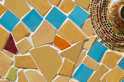 Art tile wall Stock Image
