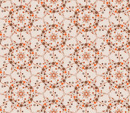 Art tiled background. Abstract beige floral geometric Seamless Texture Royalty Free Stock Photos