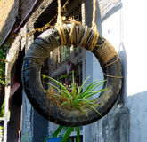 Art on tire Stock Photography