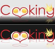 Art title for the recipe book cooking business logo. Art title for the recipe book cooking logo Royalty Free Stock Photo