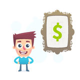 Art to make money. This is file of EPS8 format royalty free illustration