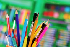 Art tools royalty free stock photography