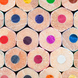 Art tools - color pencils on white background Stock Photos