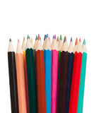 Art tools - color pencils on white background Stock Photography