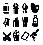Art tools icon Stock Photography