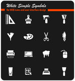 art tools icon set Stock Images